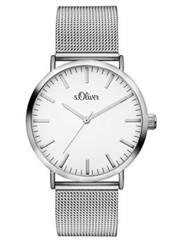 s.Oliver Damen Analog Quarz Armbanduhr mit Edelstahlarmband SO-3145-MQ - 1