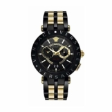 Versace Herren Analog Quarz Uhr mit Edelstahl Armband VEBV00619 - 1