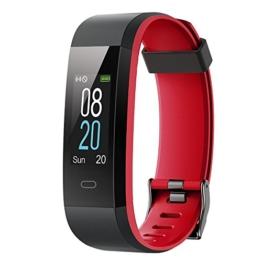 YAMAY Fitness Tracker,Smartwatch Wasserdicht IP68 Fitness Armband mit Pulsmesser 0,96 Zoll Farbbildschirm Aktivitätstracker Pulsuhren Schrittzähler Uhr Smart Watch Fitness Uhr für Damen Herren - 1