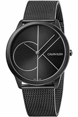 Calvin Klein Herren Analog Quarz Uhr mit Edelstahl Armband K3M5T451 - 1