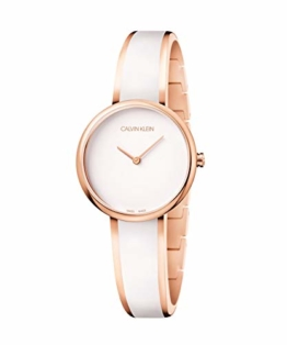Calvin Klein Unisex Erwachsene Analog Quarz Uhr mit Edelstahl Armband K4E2N616 - 1