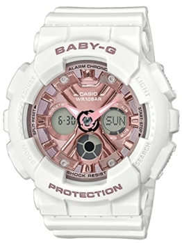 CASIO Damen Analog – Digital Quarz Uhr mit Resin Armband BA-130-7A1ER - 1