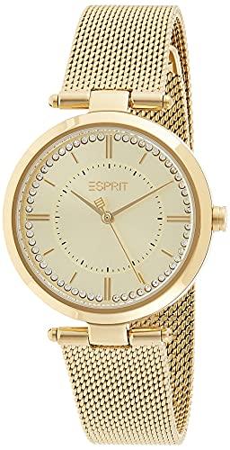Esprit ES1L251M0055 Zea Uhr Damenuhr Edelstahl vergoldet 5 bar Analog Gold - 1