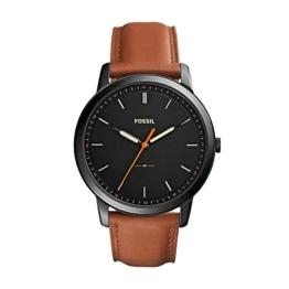 Fossil Herren Analog Quarz Uhr mit Leder Armband FS5305 - 1