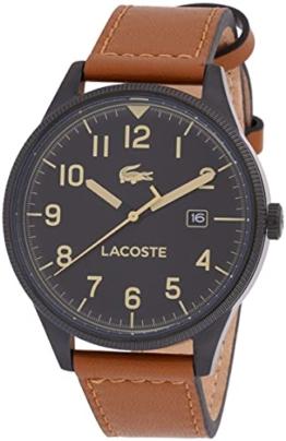 Lacoste Herren Analog Quarz Armbanduhr mit Lederarmband 2011021 - 1