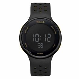REEBOK Herren Digital Uhr mit Silikon Armband RD-ELE-G9-PBIB-B2 - 1
